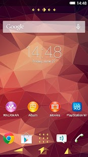 XPERIA™ Polygon Theme - screenshot