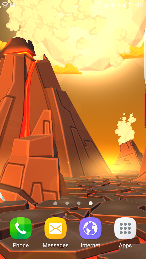 Volcano 3D Live Wallpaper Screenshot 1
