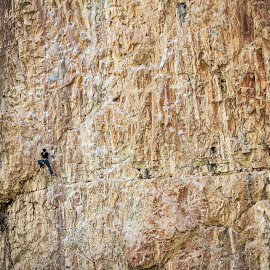 Rock Climbing by Tony Bendele - Sports & Fitness Climbing ( climbing, rock climbing, adventure, sports, sport, people )