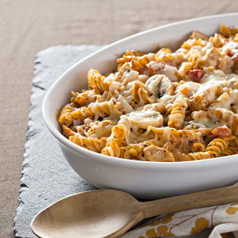 how to make mushroom pasta bake