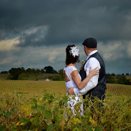 by Ashley Fink - Wedding Bride & Groom