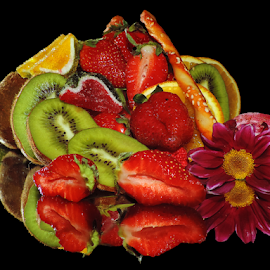 fruits,candys with flower by LADOCKi Elvira - Food & Drink Fruits & Vegetables ( candys, fruits )