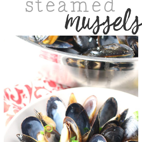 Lemon Garlic Steamed Mussels