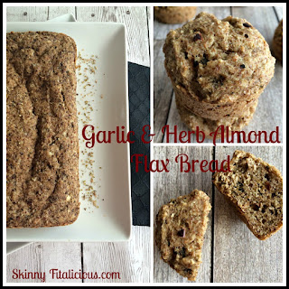 Garlic & Herb Almond Flax Bread