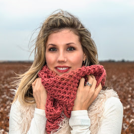 by Kathy Suttles - People Fashion ( suttleimpressions, cotton field, cold, texture, bright eyes, winter day,  )