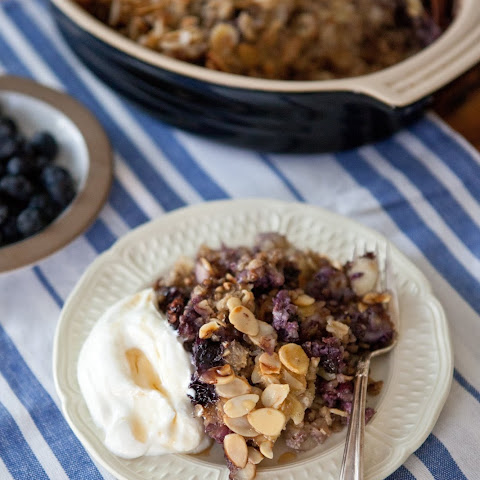 Blueberry Baked Buckwheat Oatmeal