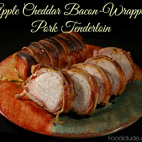 Apple Cheddar Bacon-wrapped Pork Tenderloin with Smithfield® Marinated Fresh Pork is Real Flavor Real Fast