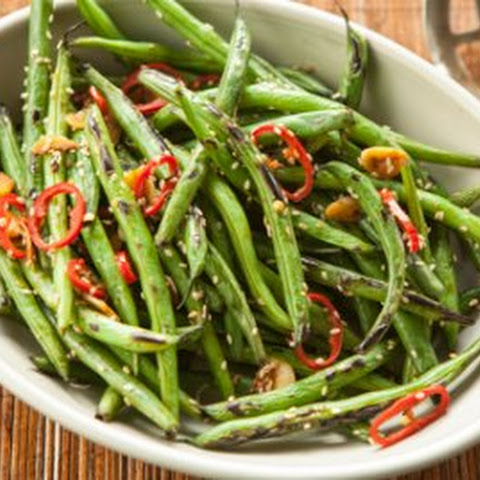 Fiery Wok-Seared Green Beans