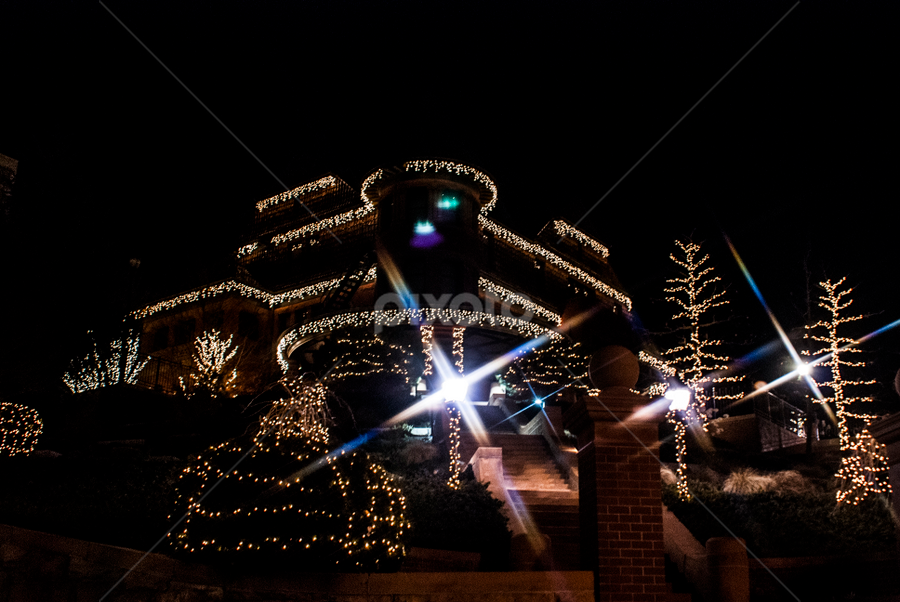 Christmas house by Kyley Hansen - Public Holidays Christmas ( lights, winter, cold, snow, christmas )