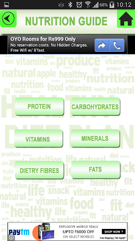 android Health Diet Nutrition Plan Screenshot 1