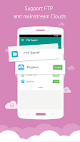 Screenshot of File Expert with Clouds