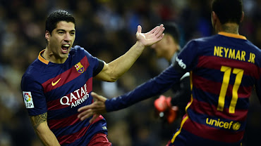 Luis-Suarez-celebrates-after-scoring-the-first-goal-for-Barcelona