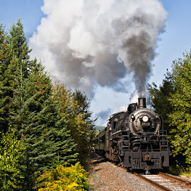 2719 by Ben Podolak - Transportation Trains ( steam train, locomotive, lake superior, soo line, 2719 )
