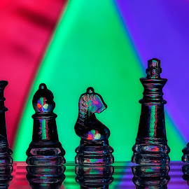 bidax 02 by Tt Sherman - Artistic Objects Other Objects ( chess pieces, colors, pawns )