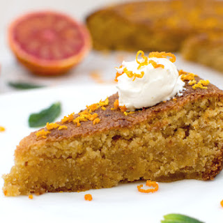 Blood Orange Polenta Cake [vegan]