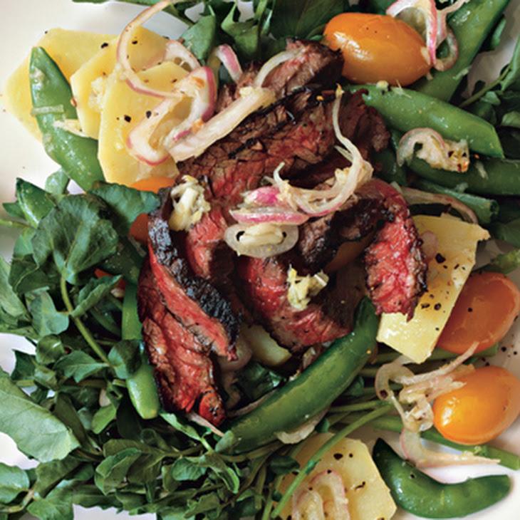 Skirt Steak and Horseradish Potato Salad