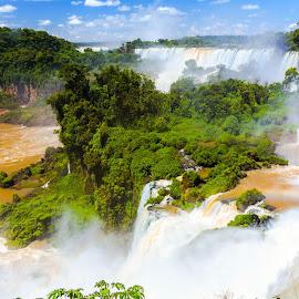 Iguazu Waterfalls by Arif Sarıyıldız - City,  Street & Park  Vistas ( argentina, brazil, falls, landscape photography, iguazu waterfalls )