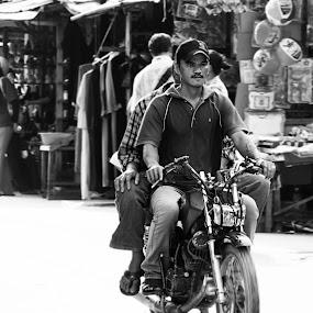 Old Ride by Shoox De LightPainter - People Portraits of Men ( black and white, photoshoox, people, sarikin, sarawak )
