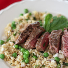 Spring Couscous with Ras El Hanout Lamb Leg