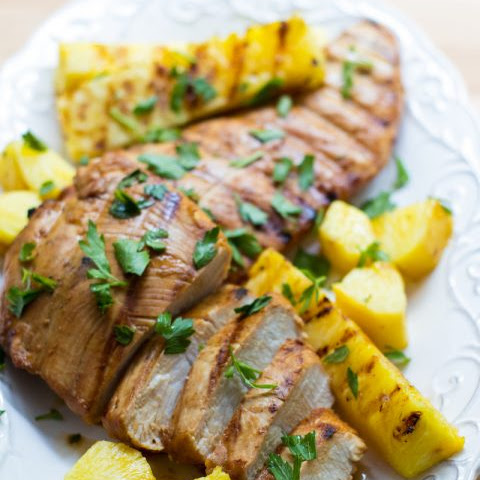 Asian Grilled Turkey Tenderloin with Pineapple