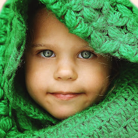 Feeling Green by Lucia STA - Babies & Children Child Portraits