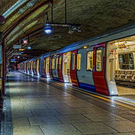 ghost tube by Chris Williams - Transportation Trains ( uk, london, tube, city life, cityscape, landscape, underground, tunnel )