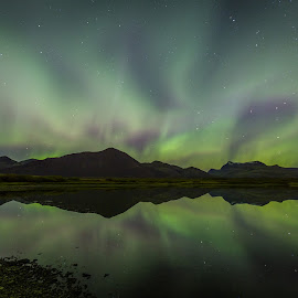 Colorful Night by Palmi Vilhjalmsson - Landscapes Starscapes ( iceland, aurora, night )