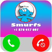 Fake Call From Smurf's APK for Bluestacks