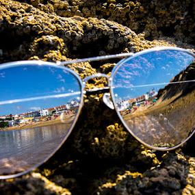 Reflection by Adriano Freire - Artistic Objects Glass ( reflexo, praia, milfontes, glass, vidro, oculos )