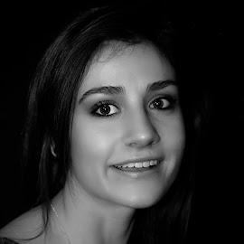 Beautiful eyes by Eidel Bock - Black & White Portraits & People