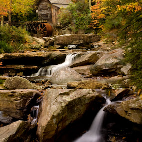 Glade Creek Mill by Steven Faucette - Landscapes Mountains & Hills ( mountains, wva, glade creek mill, waterfall, pearson's falls, rocks, north carolina )