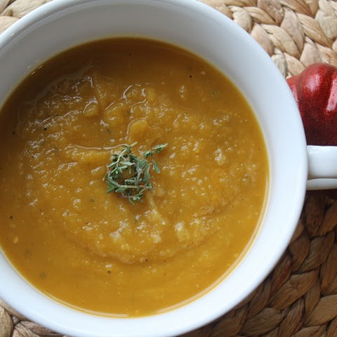 Crock-Pot Acorn Squash Soup (Meatless Monday)