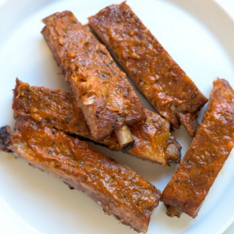 Bacon Bourbon Oven Baked Ribs