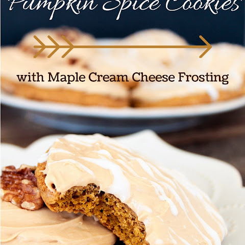 Pumpkin Spice Cookies with Maple Cream Cheese Frosting