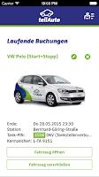 Screenshot of teilAuto Carsharing