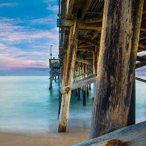 The Pier at Sunset by Patrick Miyoshi - Landscapes Beaches ( pier beaches oceanscape landscape sunset ocean,  )
