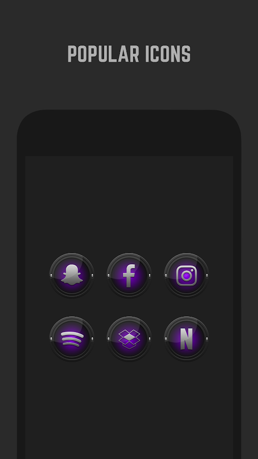 Black and Purple Icon Pack Screenshot 3