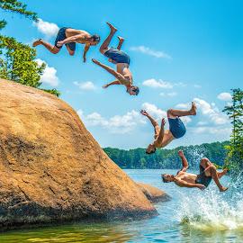 The Rock by Sean Malley - Sports & Fitness Watersports ( water, splash, swim, dive, summer, fun, summer fun )