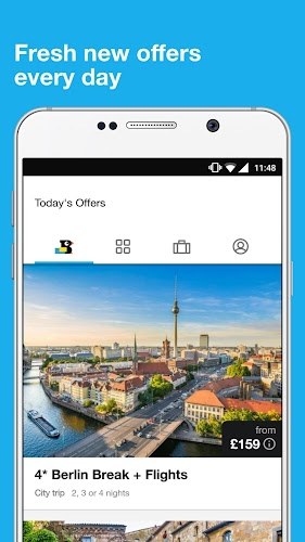 TravelBird - Travel Deals Android App Screenshot