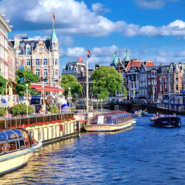 Canals of Amsterdam by Pravine Chester - City,  Street & Park  Neighborhoods ( places, city, street, amsterdam, cityscape, vista )