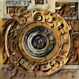 Wooden Lens by Michael Brunsfeld - Digital Art Things ( shutter, camera, lens )