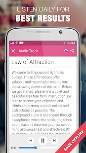 Hypnosis for Law of Attraction Screenshot