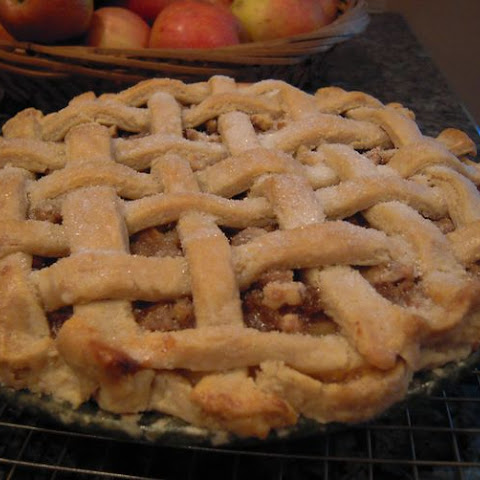 Apple Walnut Custard Pie