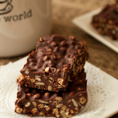 Chocolate Squares with Bran and Sunflower Seeds
