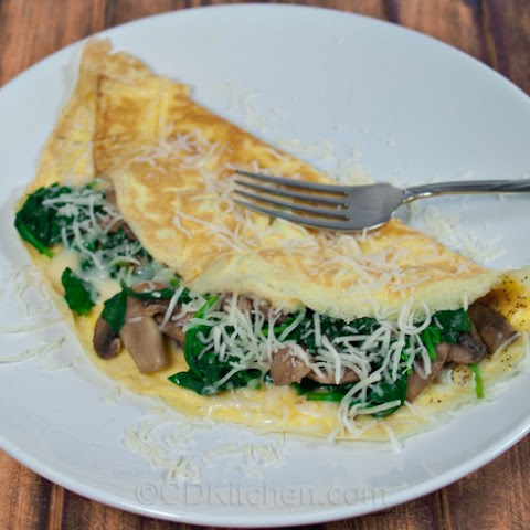 Healthy Spinach And Mushroom Omelet