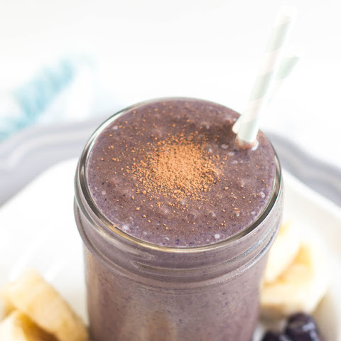 Chocolate-Blueberry Almond Butter Smoothie