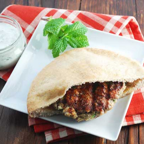 Grilled Lamb Burgers with Mint Yogurt Sauce