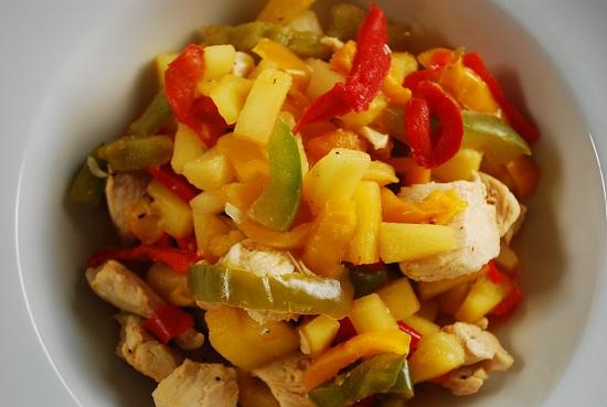 Pineapple Chicken Stir Fry with Bell Peppers Recipe | Yummly