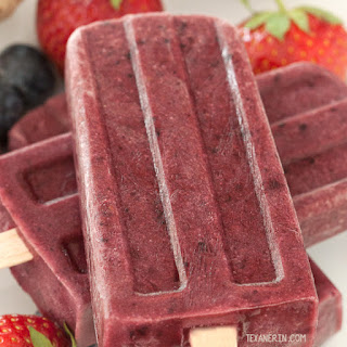 Ginger Berry Popsicles (naturally vegan, gluten-free)