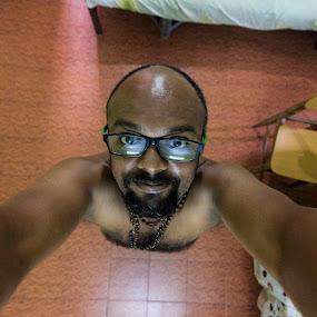 Reach out, Love the world by Vinod Velayudhan - People Portraits of Men ( hug, wide angle, self, portrait, gary fong, self portrait, selfie )